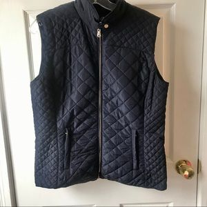 Francescas Quilted Vest- Navy